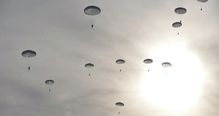 The landing of Russian airborne troops