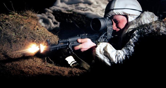 Reconnoiter sniper of the 4th Kantemirovskaya Tank Division