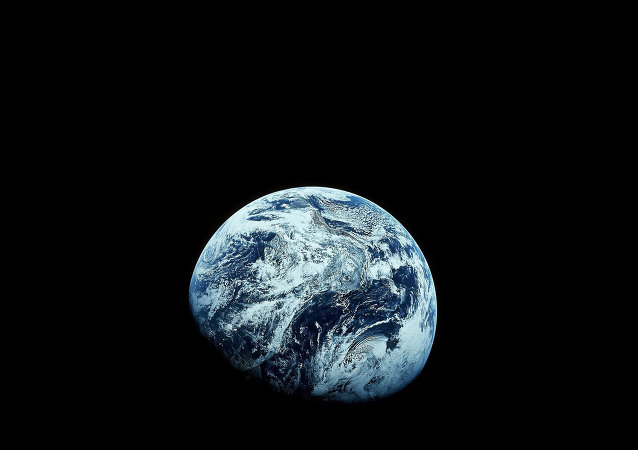 Earth as seen from the Apollo 8 spacecraft