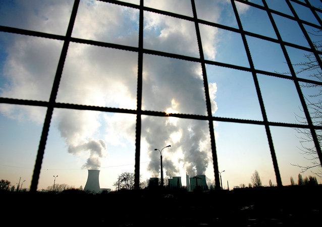 One of the main city heating plants is seen in Bucharest Romania. File photo
