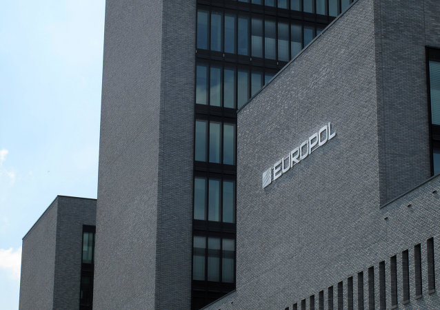 Exterior view of the Europol headquarters in The Hague, Netherlands