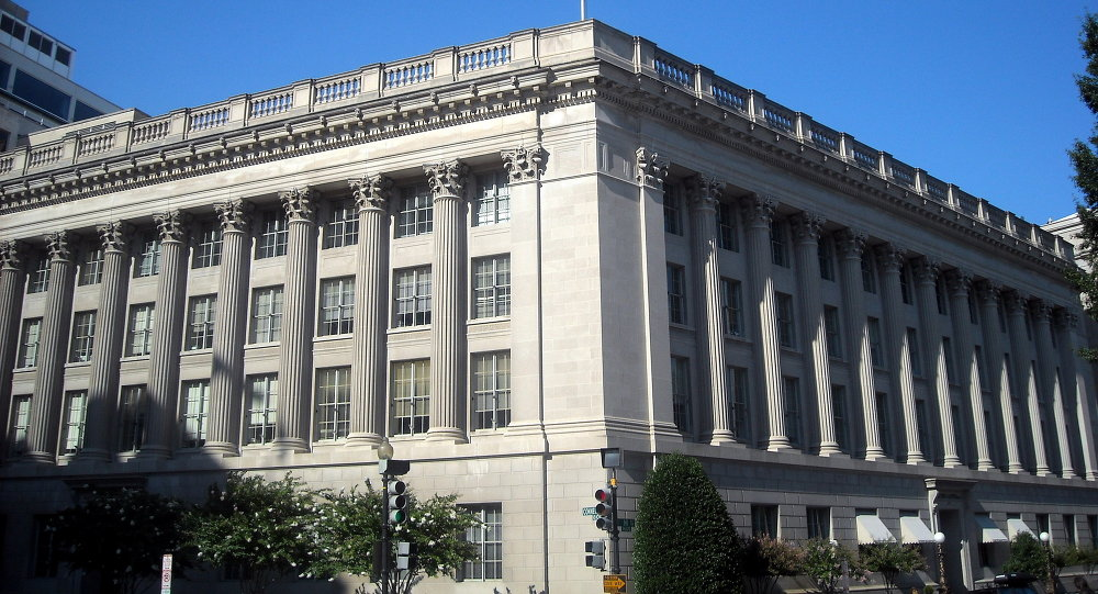 The United States Chamber of Commerce headquarters at 1615 H Street, NW in Washington, D.C.