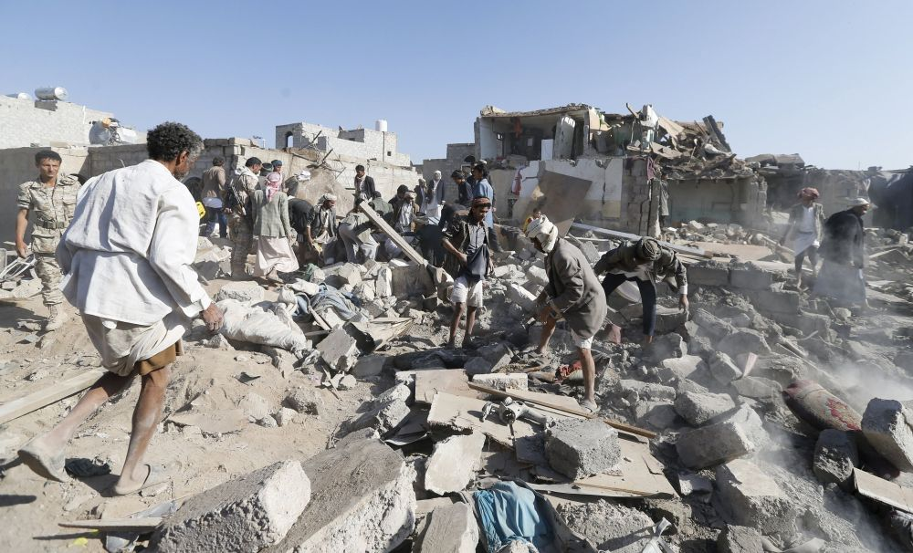 Yemeni Capital Sanaa After Airstrikes