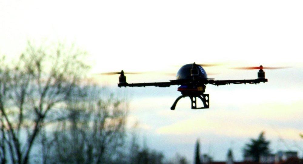 Drone in mid flight