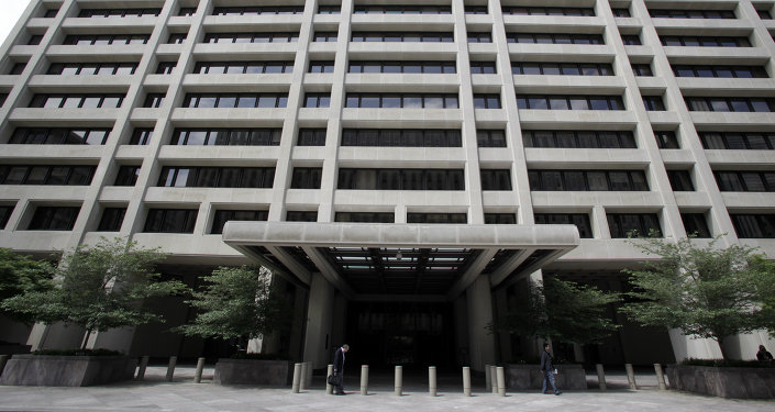 This may 15, 2011 file photo shows the International Monetary Fund (IMF) headquarters building in Washington, DC