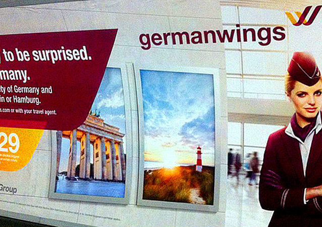Germanwings advert in the London metro