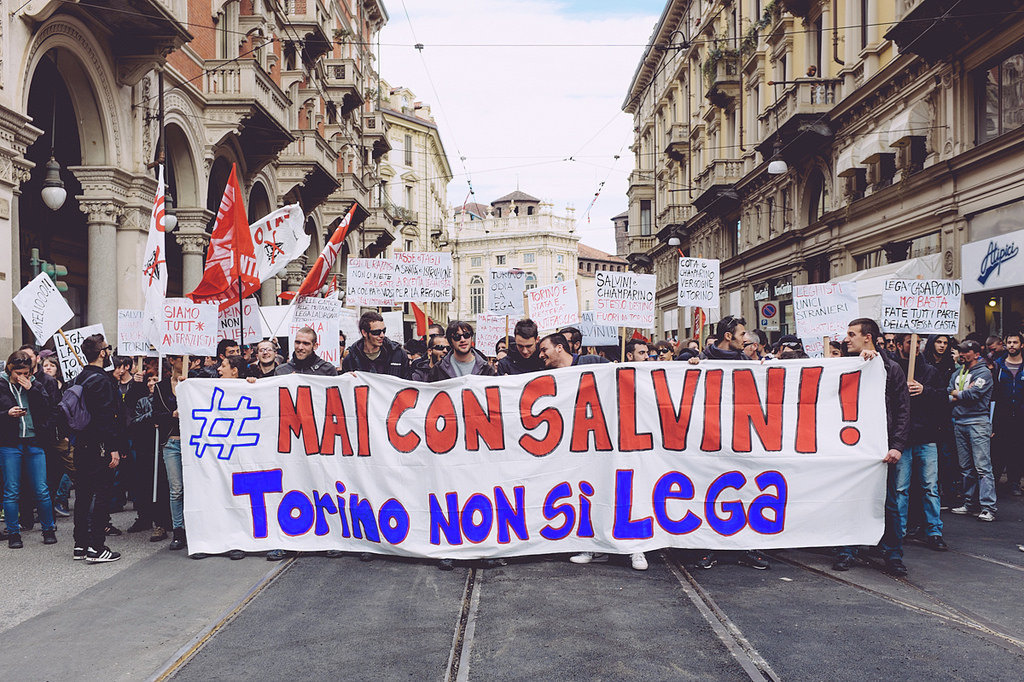 As head of the Lega Nord, Matteo Salvini has called for an exit from the eurozone, has denounced corrupt politicians and bankers for causing the crisis, and has advocated drastic reductions in immigration, which critics deem racist.
