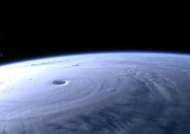 Stunning images of Typhoon Maysak were captured from space on Thursday, recorded by the High Definition Earth Viewing (HDEV) experiment