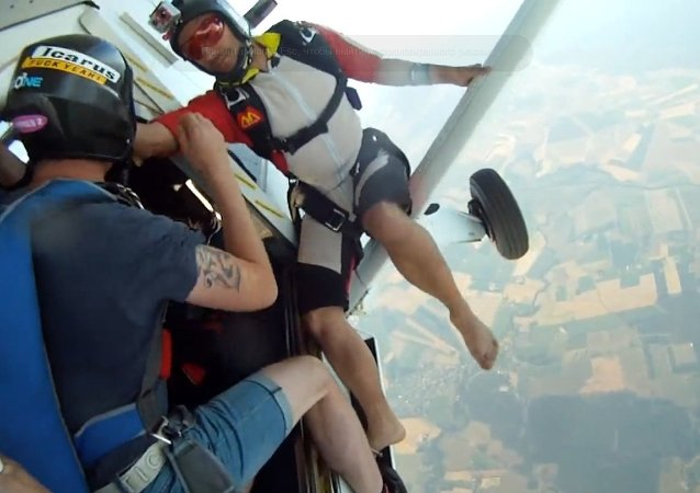 Who dropped GoPro the camera from above? The last film when it plunges from several thousand foots above sea level