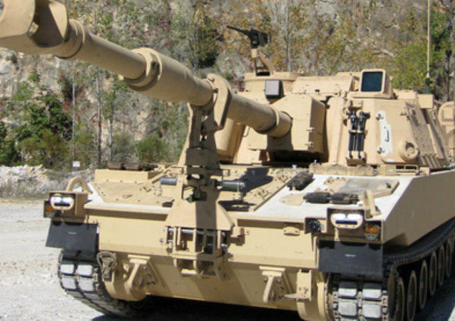 A United States Army's self-propelled howitzer