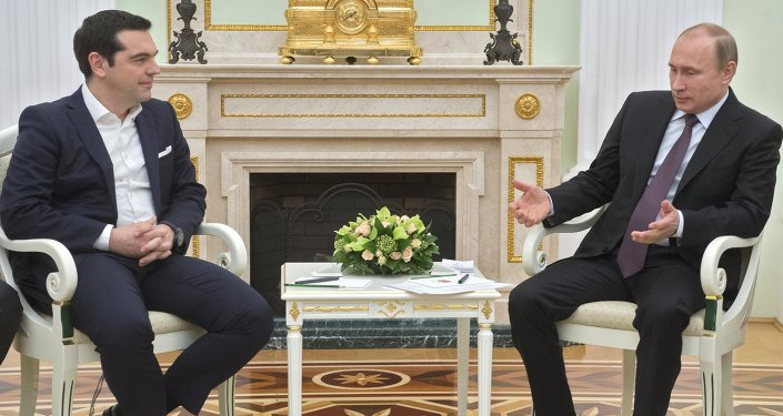 Russian President Vladimir Putin's meeting with Greek Prime Minister Alexis Tsipras