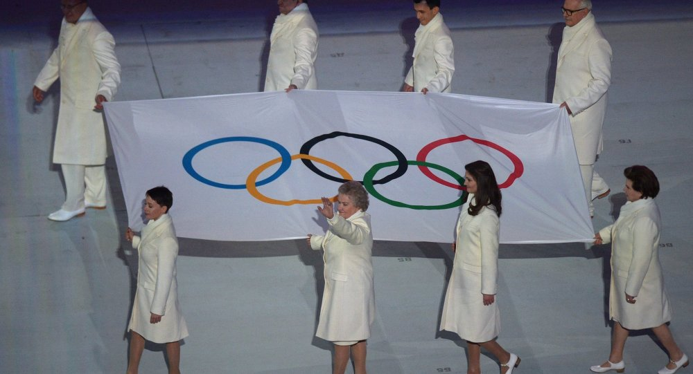 Closing ceremony of the 2014 Winter Olympics in Sochi