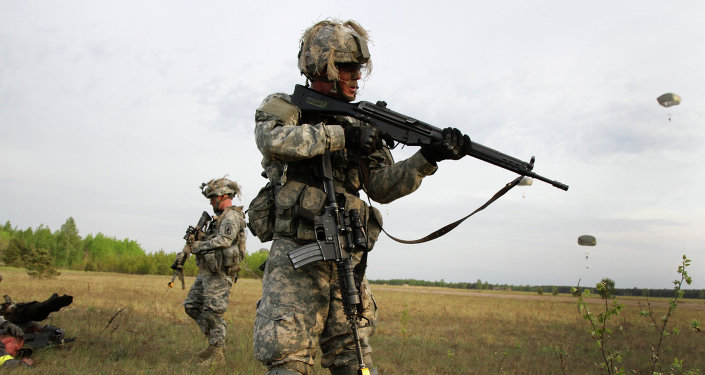 Paratroopers of the US Army in Europe