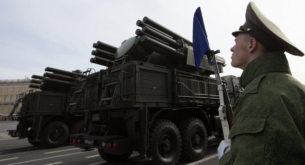 Pantsir-S1 combined gun-missile system