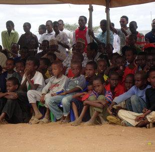 Somali refugees at the Dadaab refugee camp in Northern Kenya
