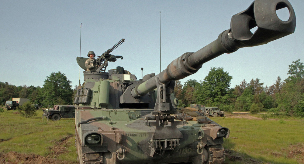 US Paladin M109A6 artillery system