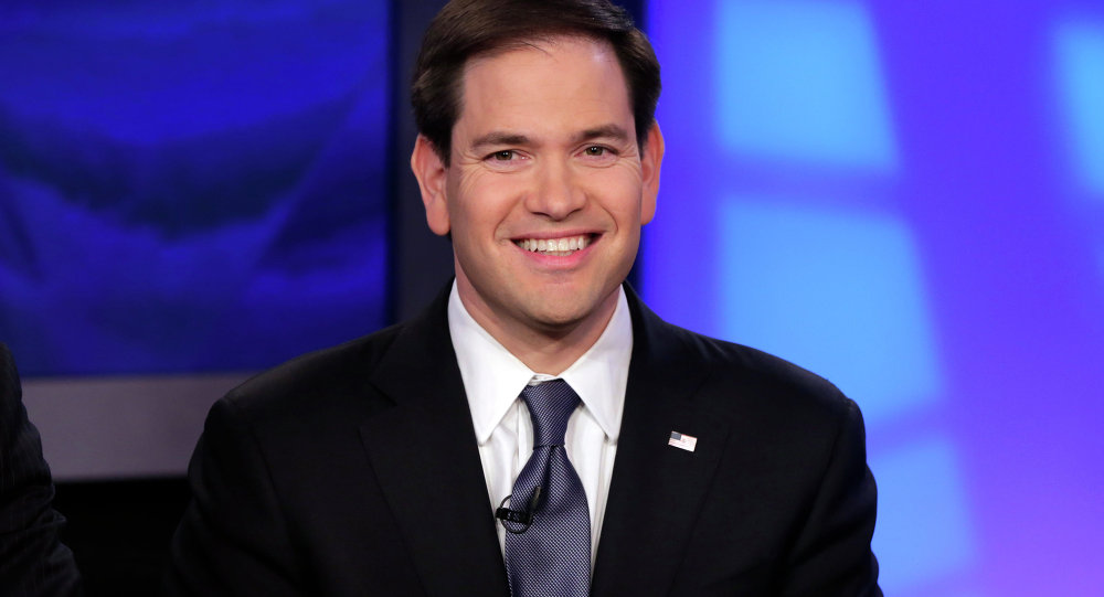 US Sen. Marco Rubio, R-FL, appears on The Five television program, on Fox News Channel, in New York
