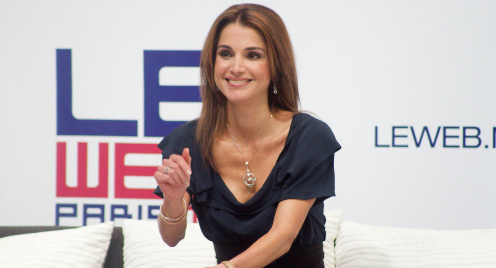 The Queen consort of Jordan, Queen Rania, who is married to King Abdullah bin Al-Hussein, is known for her active work on education, health and community empowerment issues.