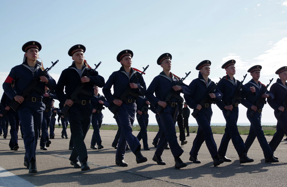 Rehearsal of the Victory Day Parade in Sevastopol