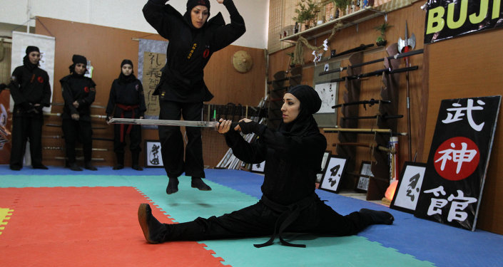 An Iranian female Ninja