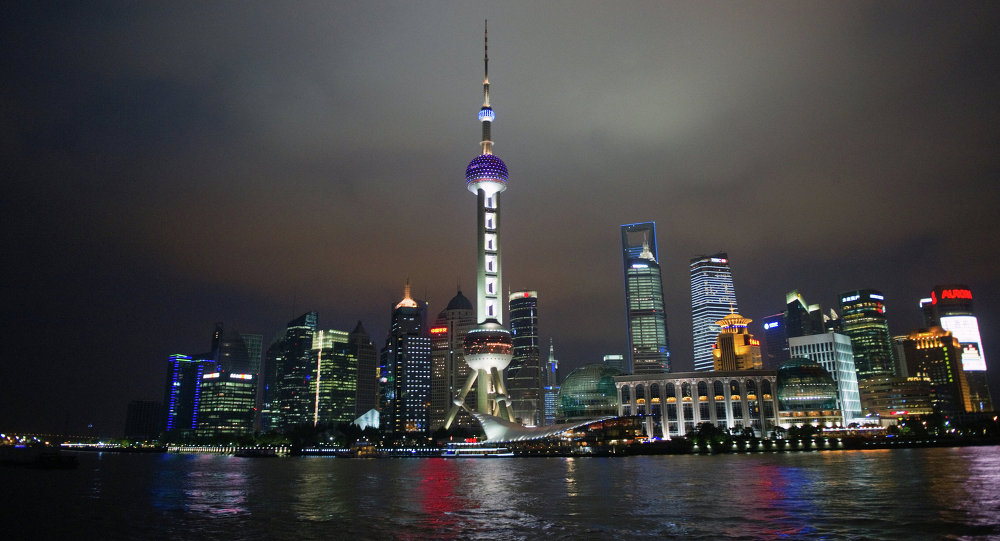 Evening views of Shanghai