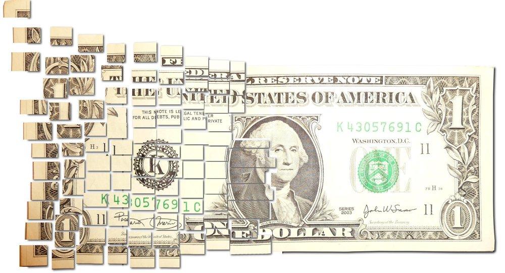 Torn & Cut One Dollar Note