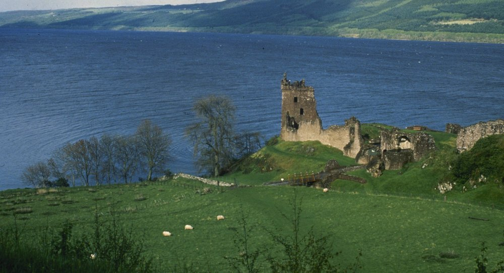 Scotland's 23-mile long Loch Ness, home of the elusive monster, Nessie