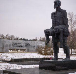 Khatyn memorial complex in Belarus