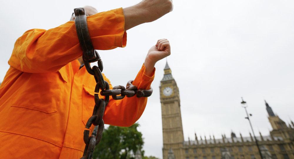 Britain Guantanamo protest