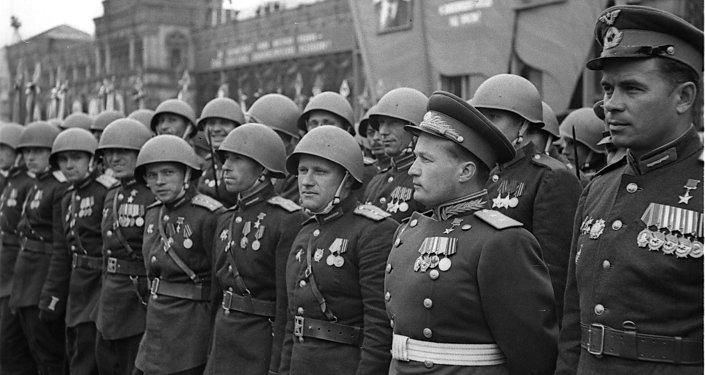 Lieutenant General Nikolai Kamanin, V-Day parade
