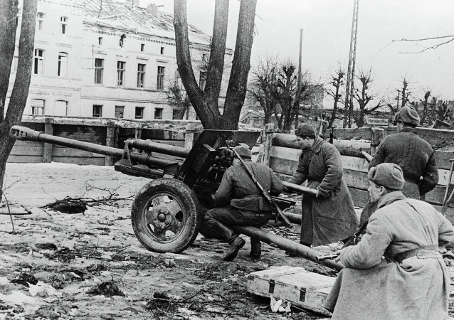 Red Army Men Fire At Enemy