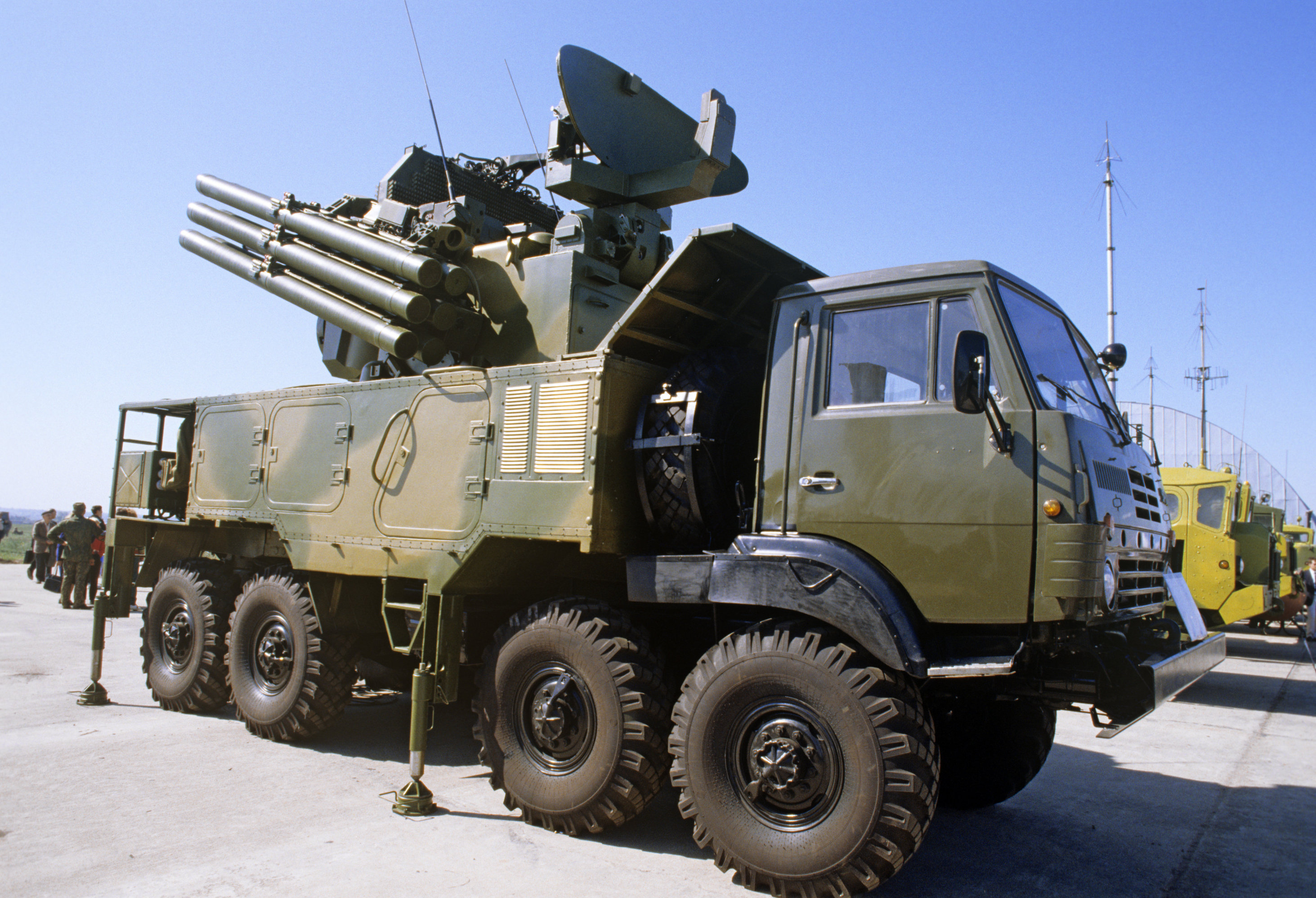 Pantsir-S1 short to medium range surface-to-air missile and anti-aircraft artillery weapon system