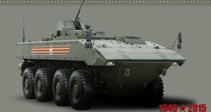 Wheeled armored personnel carrier Bumerang