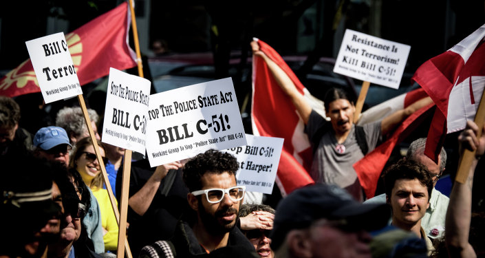 Protests against Canada's Anti-terror bill