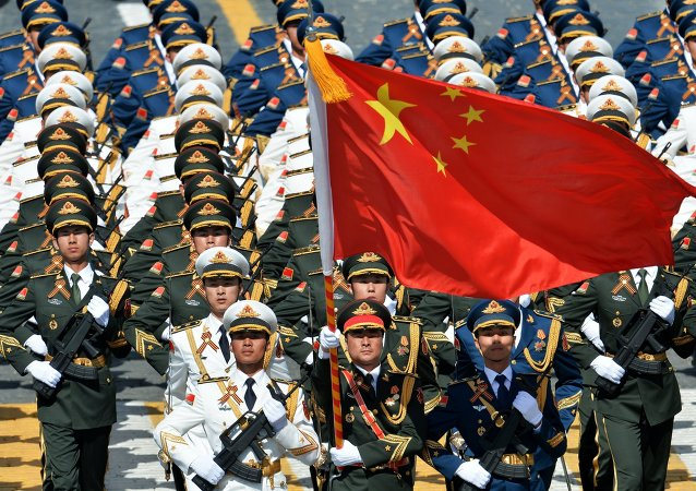 Soldiers of the People's Liberation Army at the military parade