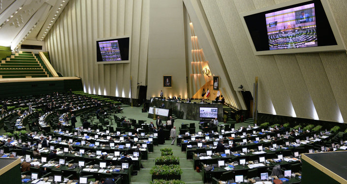 The assembly hall of the Iranian Parliament in Tehran. File photo