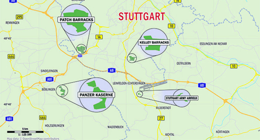 US Army Shuts Down Stuttgart Army Facility Pentagon Sputnik - Germany map military bases