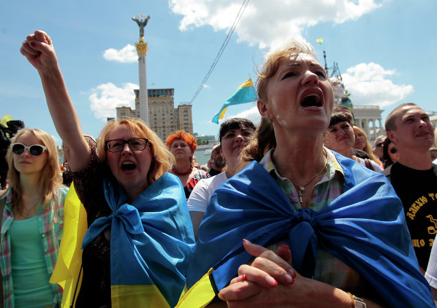 Over five thousand people gathered Saturday morning in central Kiev to protest out-of-control utilities prices.