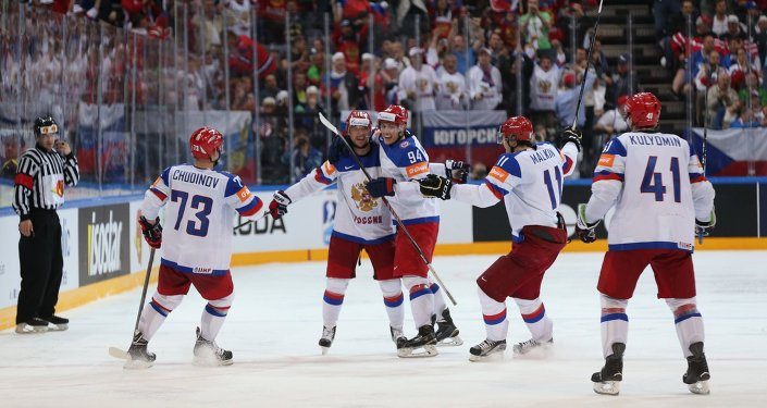 Hockey. The World Cup - 2015. USA - Russia