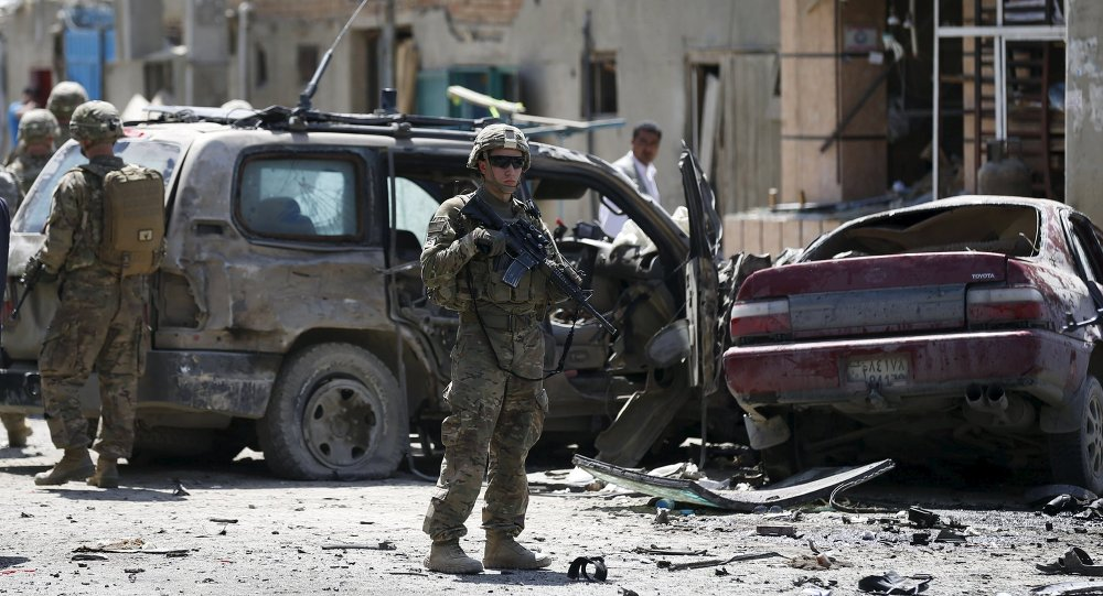 US soldiers arrive at the site of an attack in Kabul, Afghanistan May 17, 2015