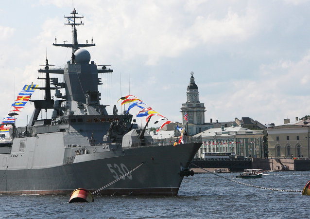 Steregushchy class corvette in Saint Petersburg