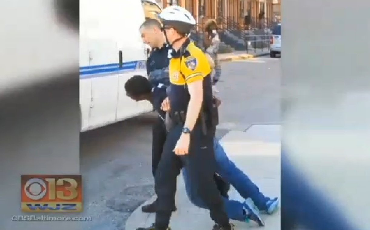 The Baltimore Police Department has suspended six officers with pay as they investigate the death in police custody of Freddie Gray.