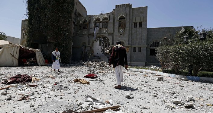 Arab coalition warplanes bomb residence of former Yemeni president Ali Abdullah Saleh