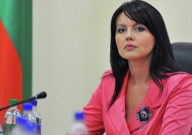 Министр иностранных дел Приднестровья Нина Штански на пресс-конференции членов правительства ПМР