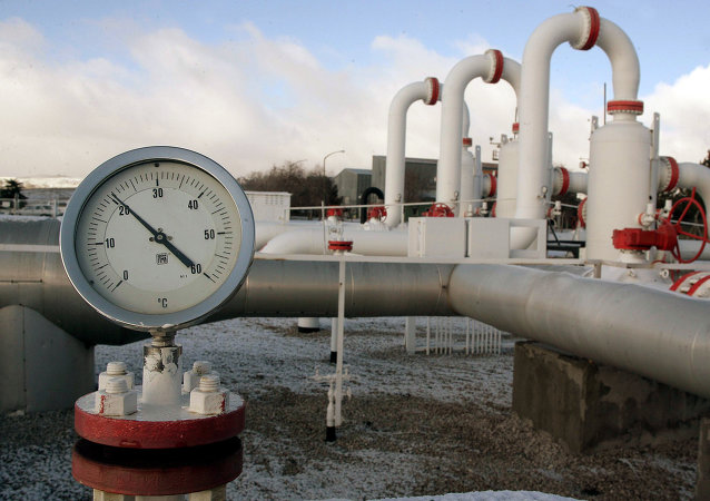 A pressure valve is pictured at a natural gas control centre of Turkey's Petroleum and Pipeline Corporation