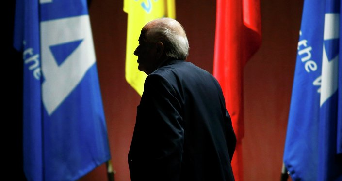 FIFA President Sepp Blatter arrives at the 65th FIFA Congress in Zurich, Switzerland, May 29, 2015