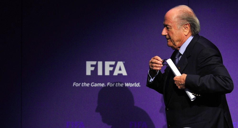 A picture taken on November 19, 2010 in Zurich shows FIFA president Sepp Blatter leaving a news conference following an executive committee meeting