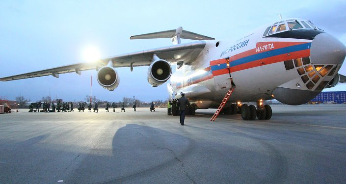 An Il-76td aircraft