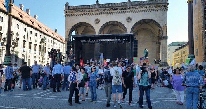 Anti-G7 Demo in Bavaria