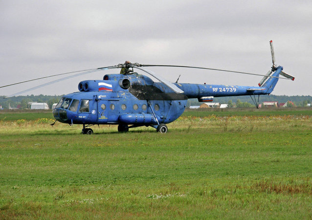 The Mil Mi-8 is a medium twin-turbine transport helicopter that can also act as a gunship